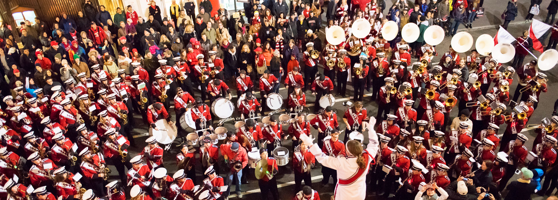 The Cornell University Marching Band
